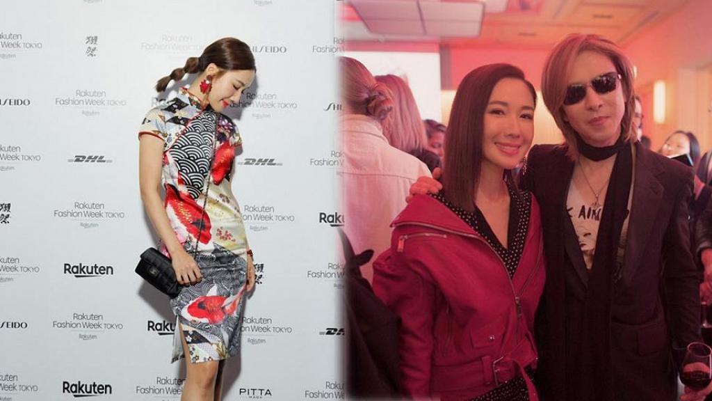 李施嬅獲日本殿堂級藝人YOSHIKI邀請 以Coco旗袍造型出席東京時裝展