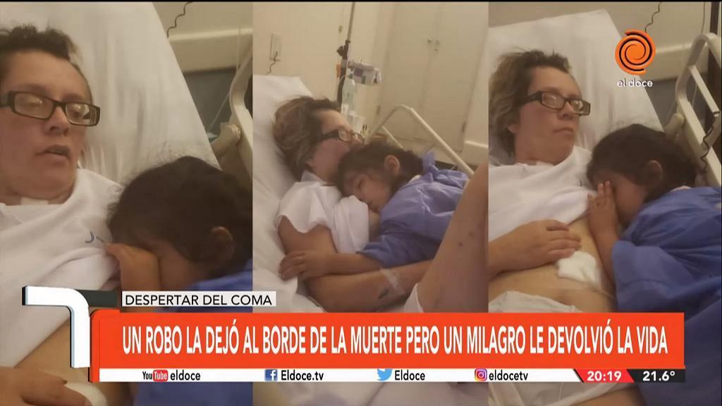 母親頭部重創昏迷一個月瀕臨腦死 聽到女兒肚餓即有意識拉高衣服餵奶