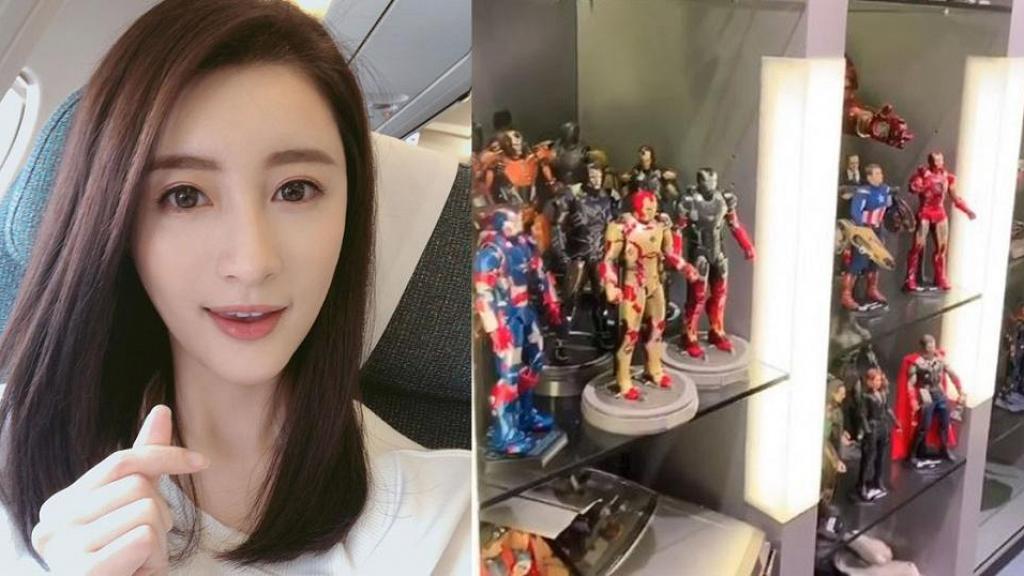 林夏薇收藏Marvel人物模型擺滿15個櫃 過百figure估計最少值15萬
