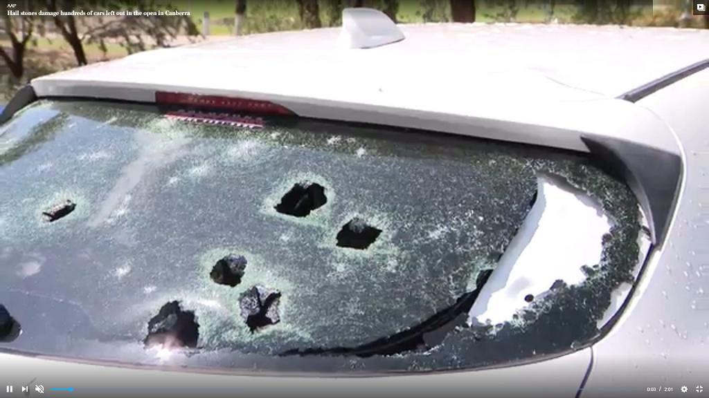 澳洲災難仍未停止大型冰雹暴襲坎培拉 冰雹如網球般大有過千人求救