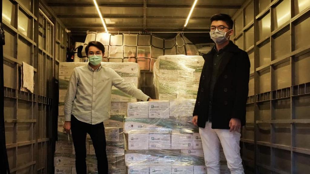 【派口罩】黃之鋒訂10萬美國口罩助社區有需要人士 其餘將放香港眾志網站出售