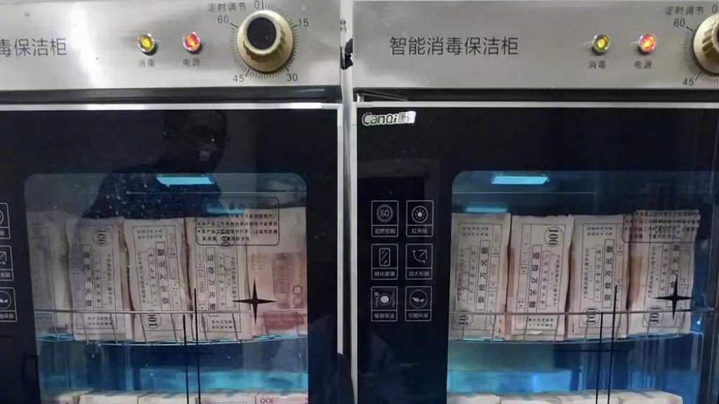 【新冠肺炎】大媽憂紙幣沾染新冠肺炎病毒 用微波爐「叮」現金結果燒燶紙幣