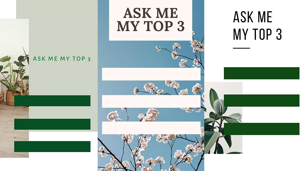 【Instagram教學】免費自製Ask Me My Top 3背景圖 IG Story限時動態人氣玩法