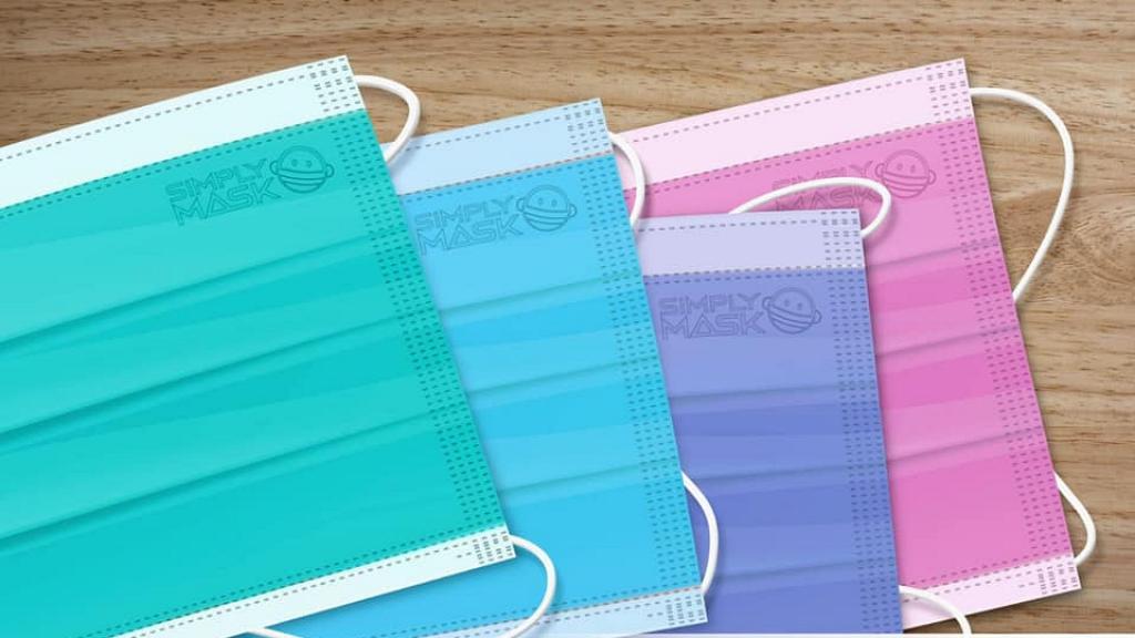 港產口罩Simply Mask料5月底發售口罩現貨 推出湖水綠/啡色/紫色6款彩色口罩