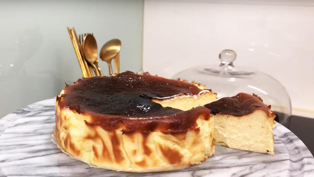 氣炸鍋家中自製巴斯克燒焦芝士蛋糕 零失敗教學!新手都成功整到 (內附食譜)