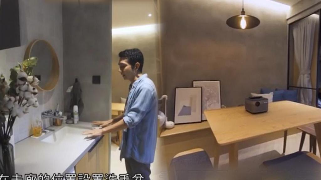 兩姊弟70萬翻新323呎舊樓變日式家居 為加闊企缸洗手盆擺走廊 網民:好唔衛生