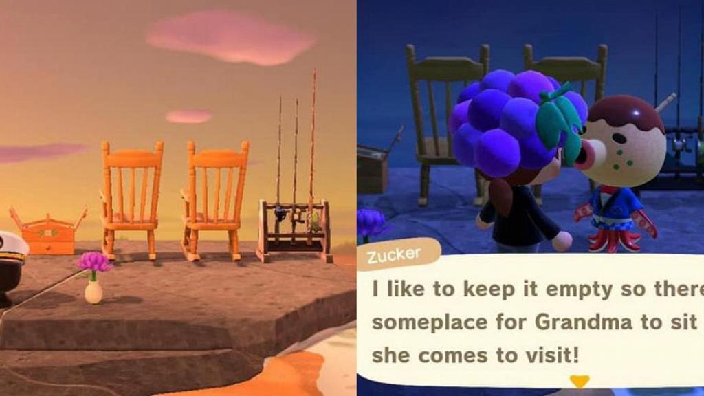 【動物之森/動物森友會】無人島放搖椅紀念過世祖父母 鄰居窩心說話感動玩家