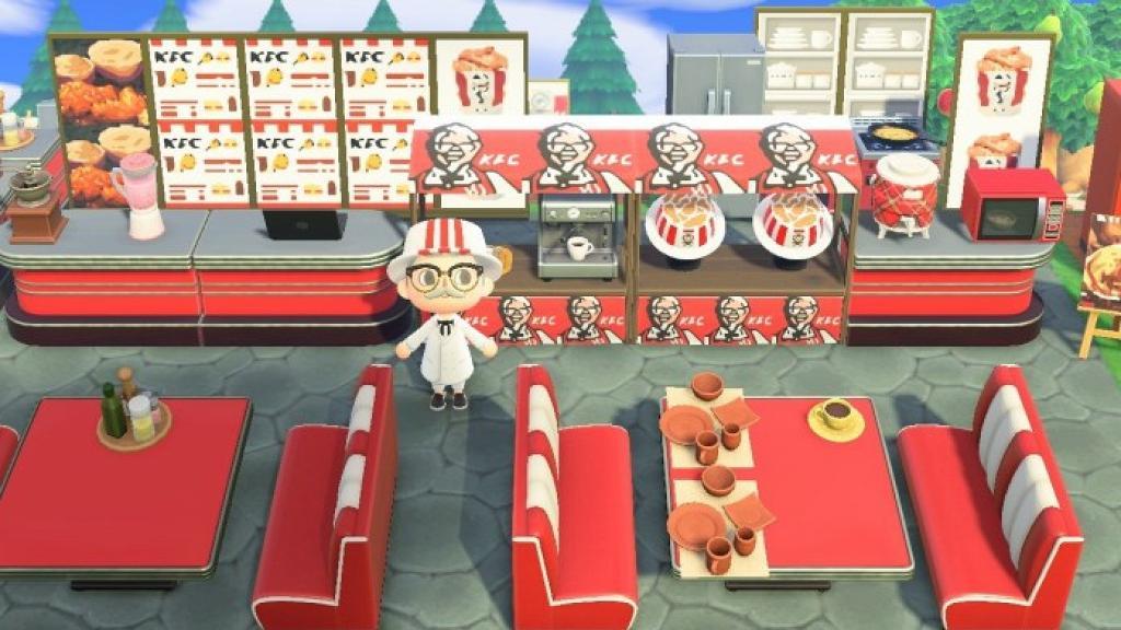 【動物之森/動物森友會】外國KFC走入動森開分店!限時開放參觀免費食原味炸雞