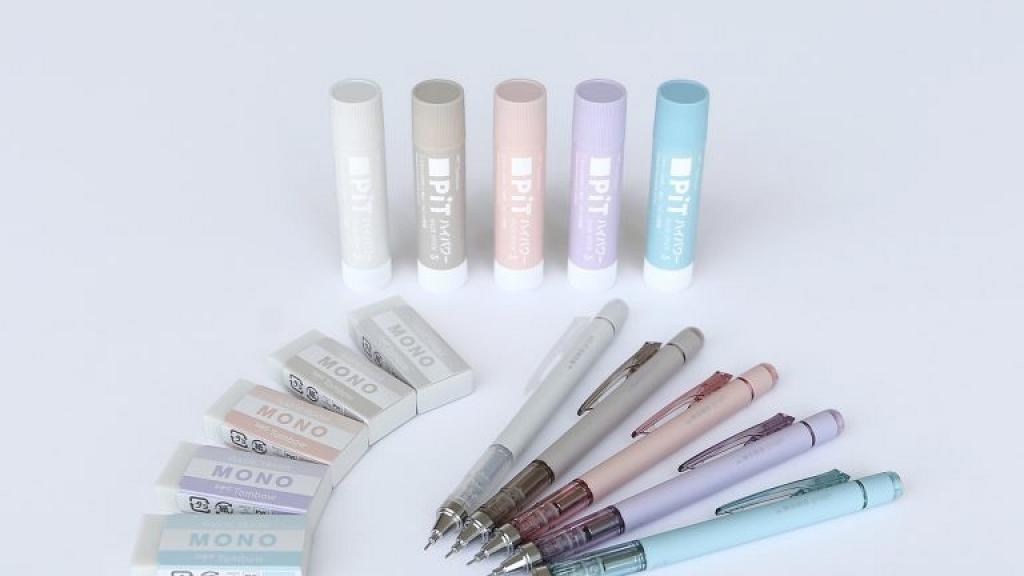日本蜻蜓牌推出3款煙燻色文具!經典MONO擦膠/自動鉛芯筆/漿糊筆