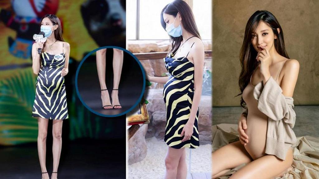 陳凱琳懷第二胎手腳仍纖幼照著高跟鞋 傳生B後即與TVB解約專心照顧家庭