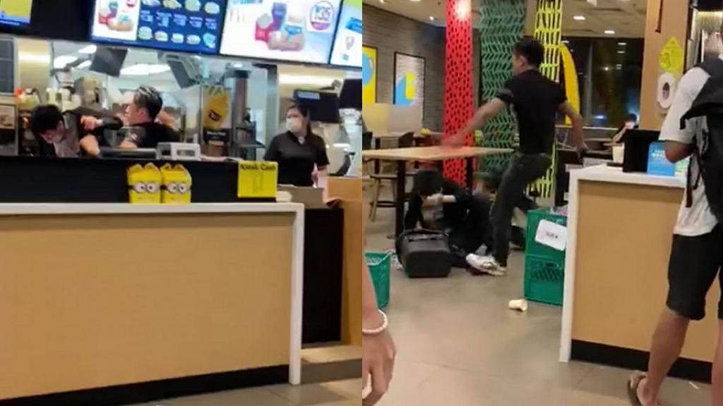 【新冠肺炎】不滿被勸戴口罩 惡客發爛渣拳打腳踢麥當勞經理