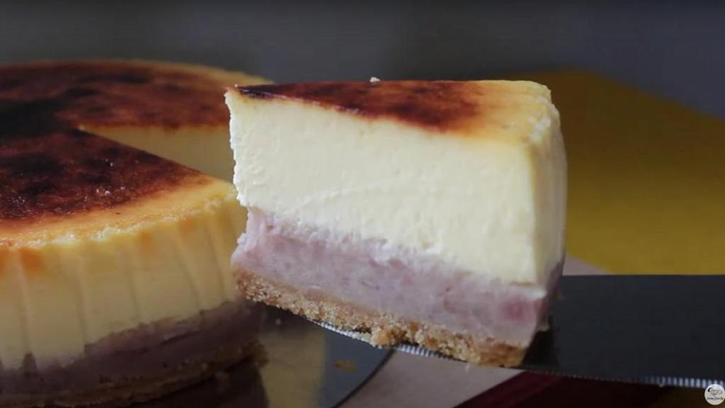自家製超足料芋泥芝士蛋糕 芋頭控必試!濃郁芋頭香+口感綿密(內附食譜)