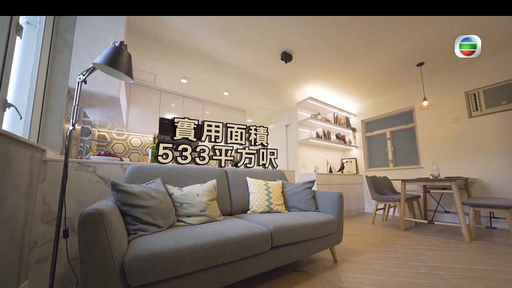兩夫婦住533呎兩房單位空間實用冇缺點 仍嫌冇儲物空間唔擺床寧瞓地台