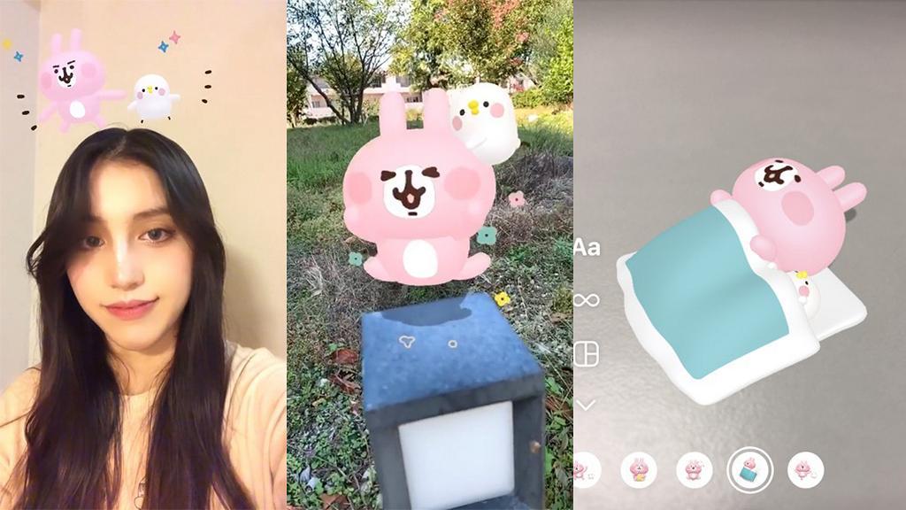 【Instagram】P助與粉紅兔兔推IG Story限時動態 AR濾鏡 4大得意動畫特效!內附下載連結