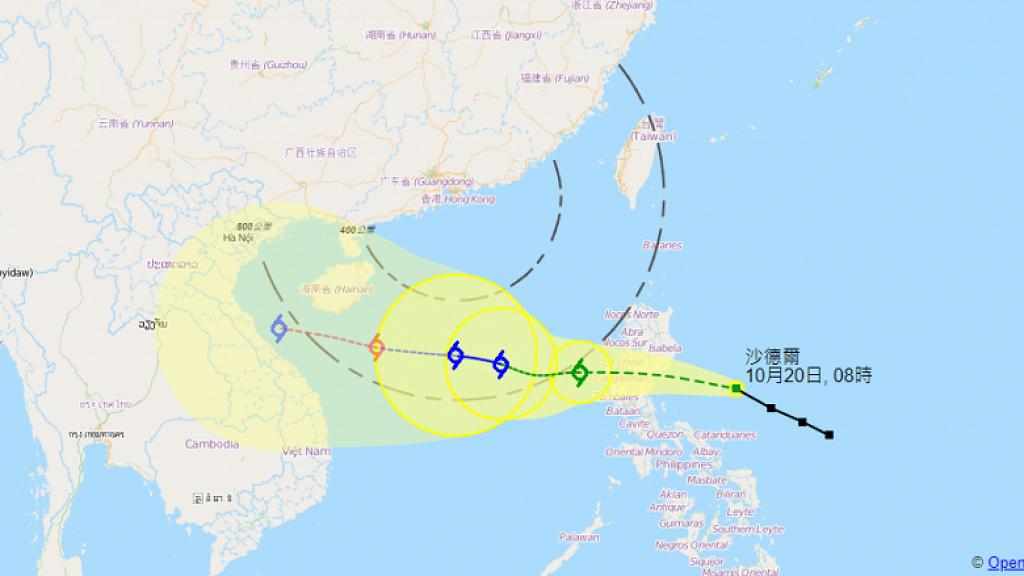天文台料熱帶風暴明日逼入香港800公里範圍 推測「沙德爾」或於星期六升呢至颱風級別