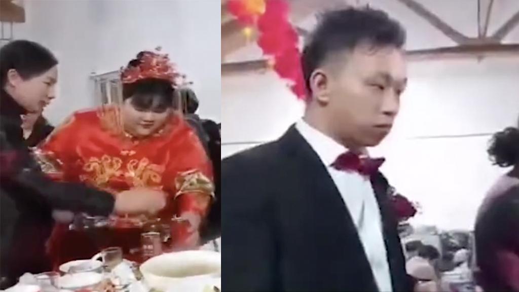 網傳358磅新娘結婚嫁妝超豐厚總值近4千萬 農村窮新郎擺酒娶千金「眼神死」表情成焦點