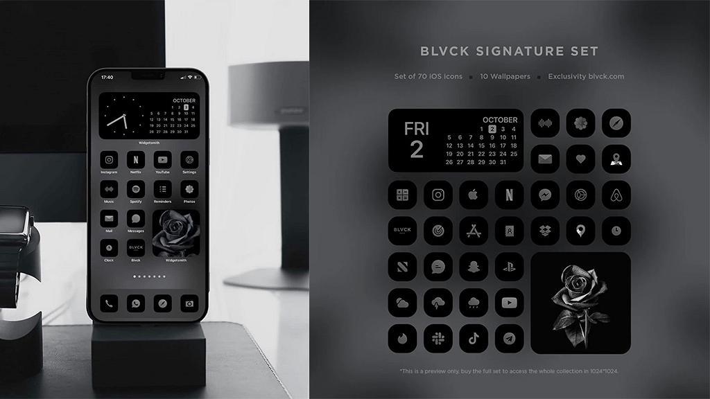 法國BLVCK推iPhone極簡黑色介面 型格全黑Wallpaper+App icon支援中文兼免費更新