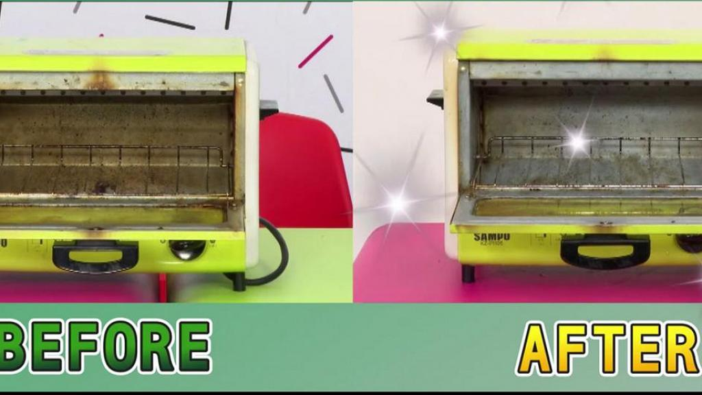 【大掃除】台灣節目清潔達人教你清潔氣炸鍋/焗爐 蘇打粉+白醋簡單2個步驟清潔污漬油漬