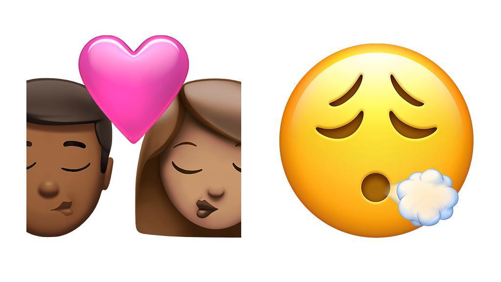 Apple iOS 14.5 beta 2推出16款新Emoji 情侶接吻、嘆氣表情符號新圖案登場