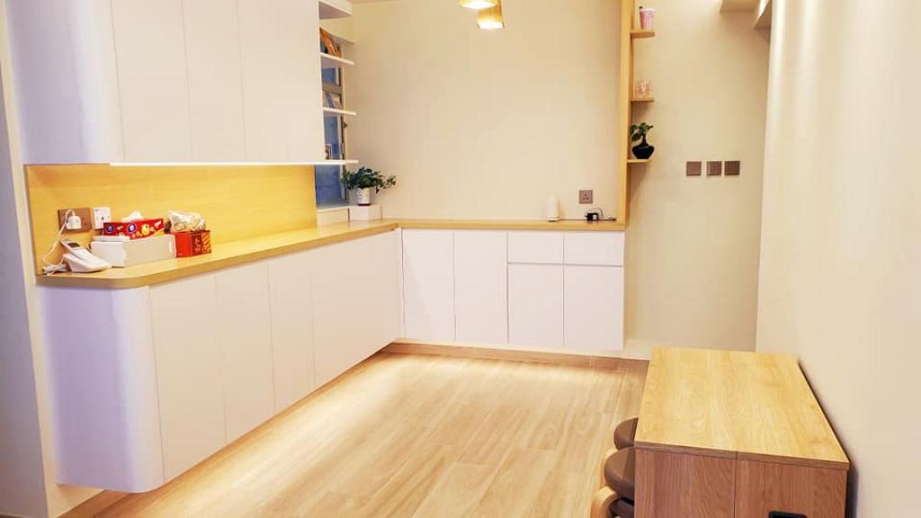 夫婦花42萬翻新20年殘舊屋企 517呎居屋擺脫老土風格變日式溫暖家居