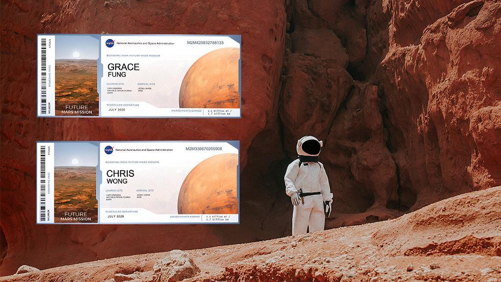 NASA「send your name to Mars」免費領火星太空船機票 3步申請教學將名字送上火星率先漫遊太空