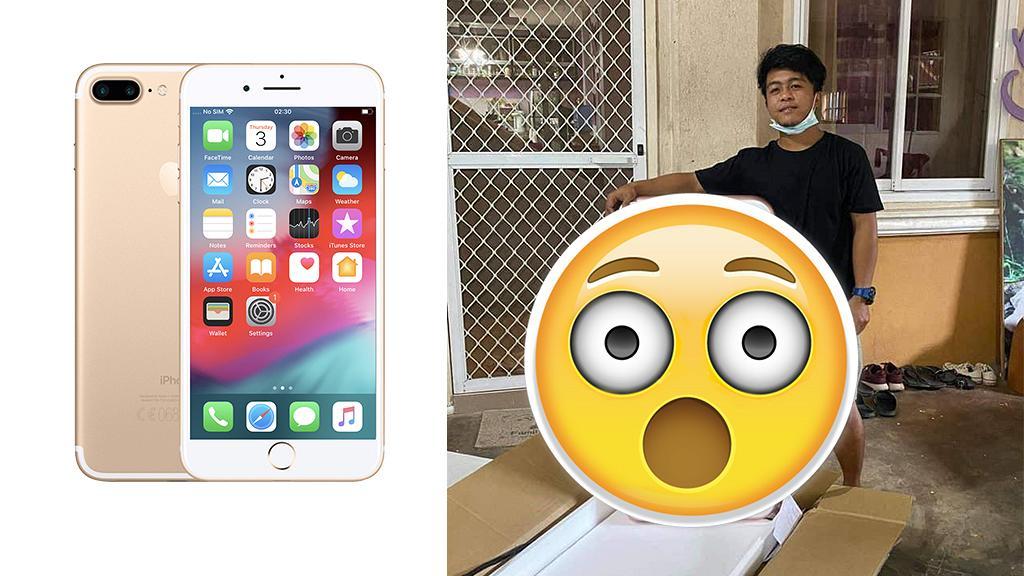 貪平網購iPhone竟收超巨型包裹 開箱後得啖笑:難怪運費咁貴
