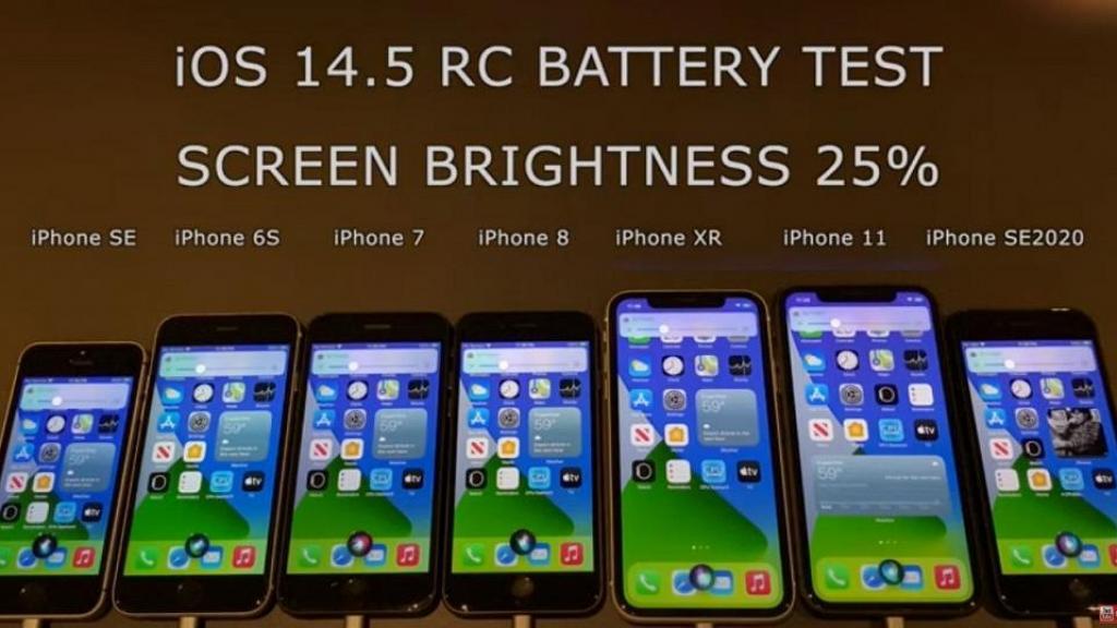 【iOS14.5】實測7大型號iPhone耗電量+速度!升級iOS14.5後只有1款手機變得更食電