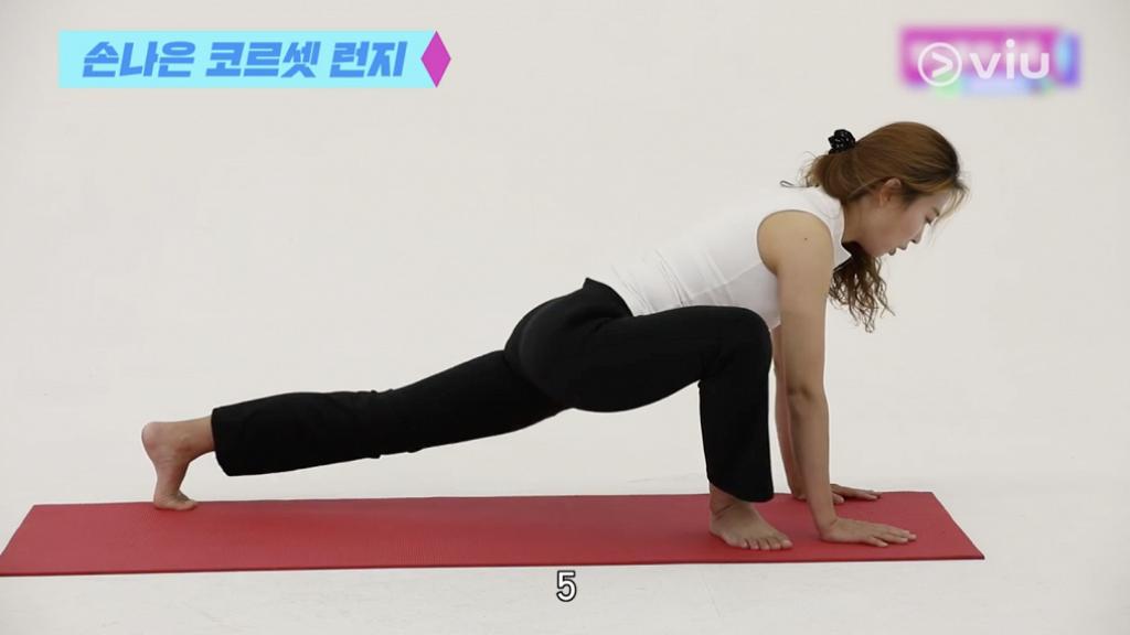 【減肥】韓國普拉提教練示範Apink孫娜恩瘦身運動 每日5分鐘提臀同時瘦大腿