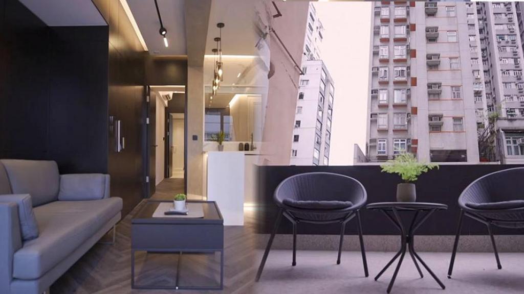 夫婦用50萬改變315呎窄長間隔 實用客廳配落地玻璃門延伸大露台富空間感
