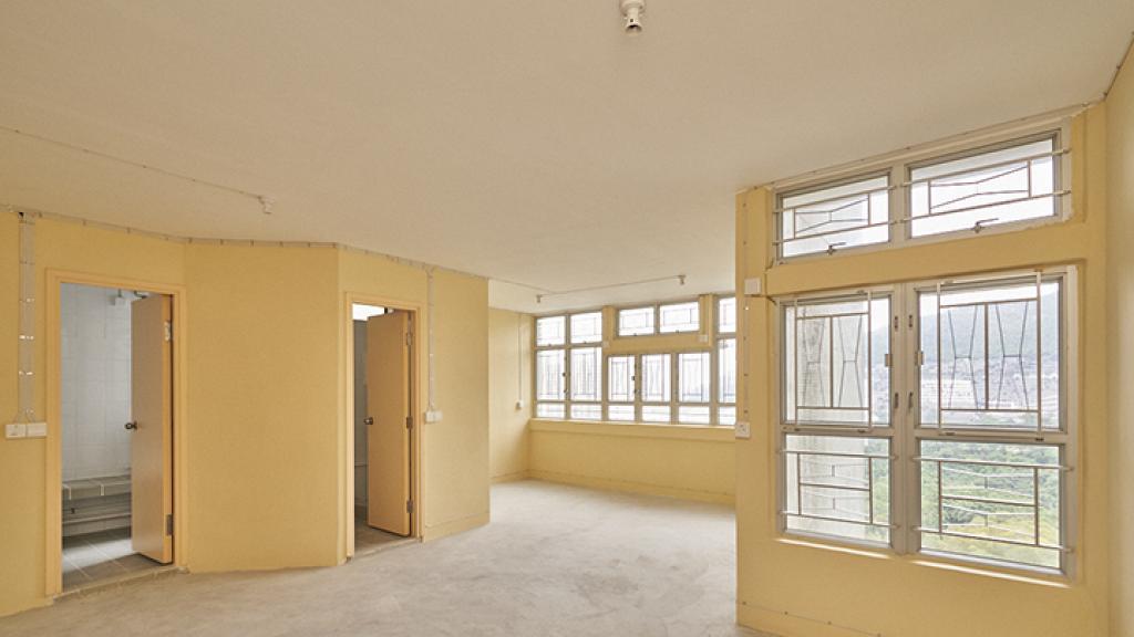 【綠置居2021】房委會公開新一期租置公屋室內照 200呎單位洗手盤擺出廳 廚廁位三尖八角