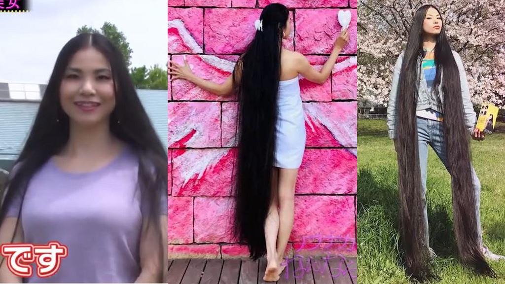 日本2.3米長頭髮美女日常生活超騎呢 15年冇剪過頭髮!靠用長髮鞭紙/玩鞦韆輕鬆賺錢