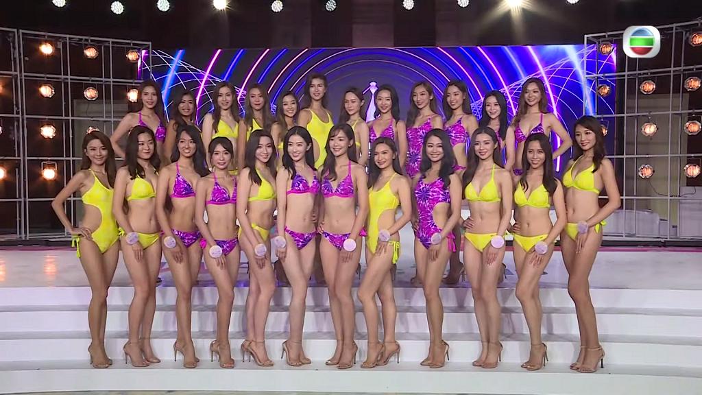 【香港小姐2021】24位佳麗首穿泳裝亮相 港姐大熱門順利晉級 4位佳麗率先被淘汰