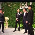最強組合「左麟右李中間神」 校長、克勤加Eason婚禮超high合唱《一生中最愛》
