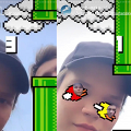 IG Story大熱上癮遊戲Flying Face! 同朋友比賽不停眨眼控制雀仔飛