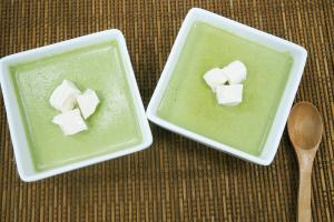 5個步驟就完成!簡易製作抹茶豆腐布甸