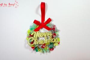 簡單DIY聖誕小吊飾 用紙膠帶整出迷你花環