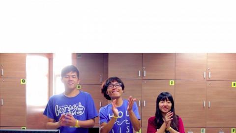 台灣學生齊拍手 給予港人「愛的鼓勵」
