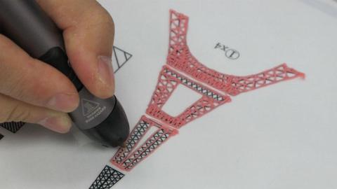 一枝筆就畫到?立體巴黎鐵塔原來是這樣畫的....