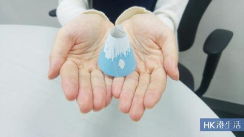 日本3D Memo紙 摺出立體富士山
