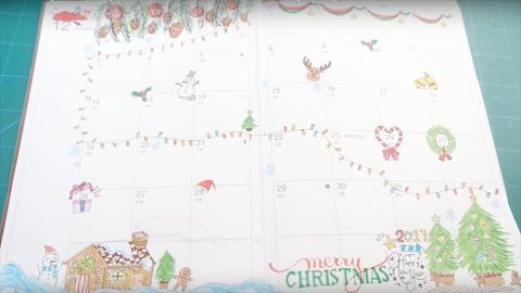 今年畫聖誕卡就靠這個!手繪聖誕插畫教學