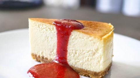紐約芝士蛋糕伴紅桑子醬 食譜