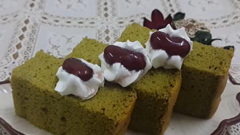彈性彈性~極鬆軟抹茶蛋糕!