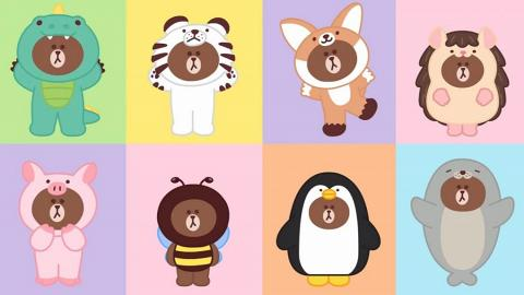 熊大激萌cosplay動物 LINE FRIENDS新系列聽兒歌學英文