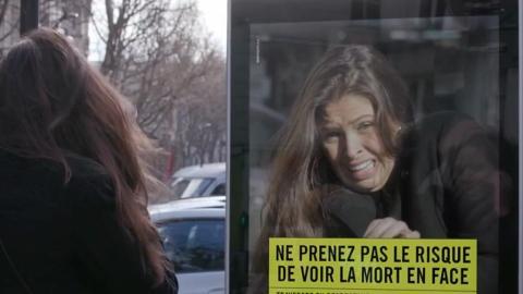 嚇窒你不敢亂衝紅燈!法國裝置模擬意外一刻 影低行人驚到變面