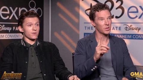怕蜘蛛俠口疏 男神Benedict Cumberbatch快反應搶答問題