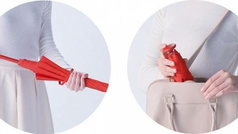 1秒揈甩水珠雨傘!極速乾放入袋