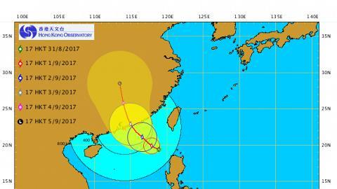 熱帶氣旋漸增強 天文台:明天或掛一號波