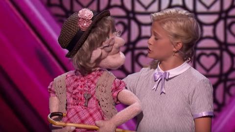 12歲腹語術女孩帶「阿婆」上台示愛   評判勁讚有冠軍相
