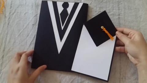 簡單自製畢業禮物送祝福!可愛畢業袍+四方帽心意卡