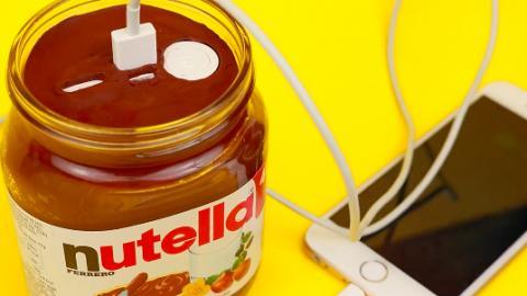 4款材料就整到!自製Nutella榛子醬手機充電座